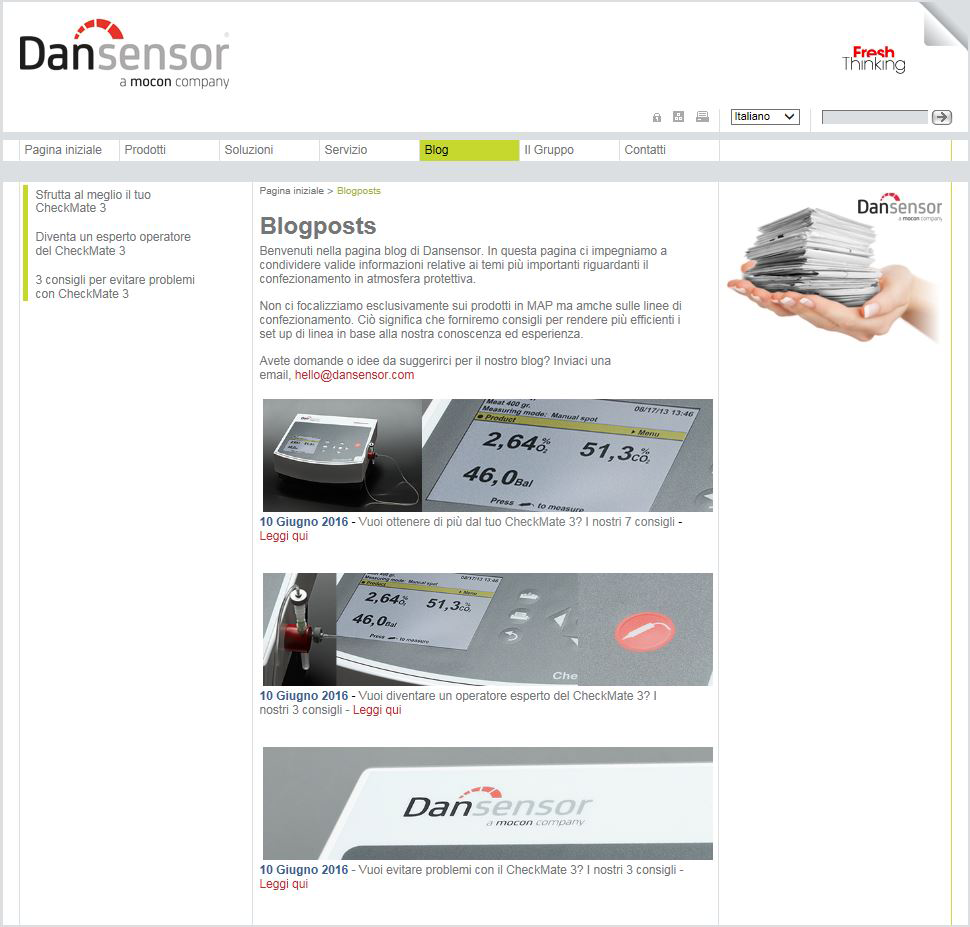 Blogposts Dansensor